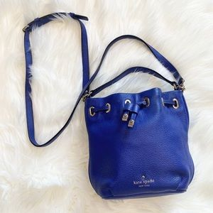 Kate Spade Cobble Hill Wyatt cobalt satchel Bag